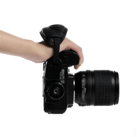 puleather wrist grip for canon eos nikon sony olympus dslr slr ebay