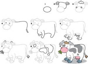 how to draw how to draw a cow kid scoop