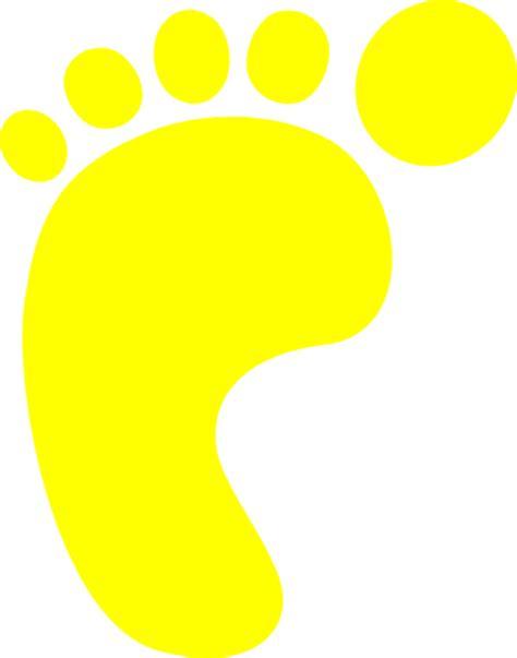 footprint clipart yellow footprint clip at clker vector clip