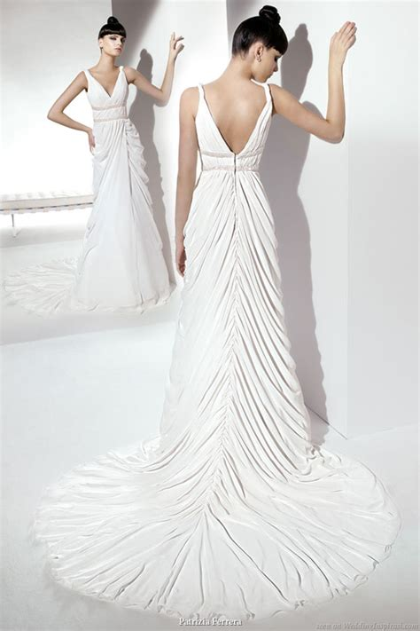 greek draped dress patrizia ferrera 2011 wedding gowns wedding inspirasi