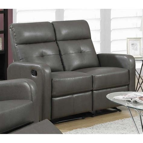 grey leather loveseat leather loveseat in charcoal grey i85gy 2