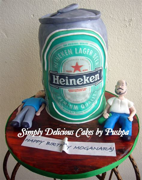 heineken beer cake simply delicious cakes heineken beer can cake