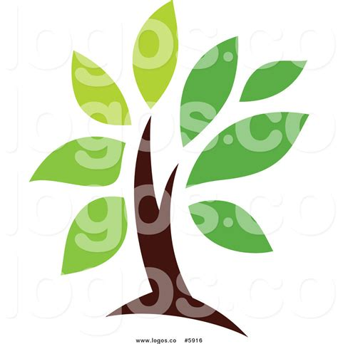 Royalty Free Vector Of A Logo Of A Green Tree By Elena 5916 Green Tree Logo Vector Vector Logo Free