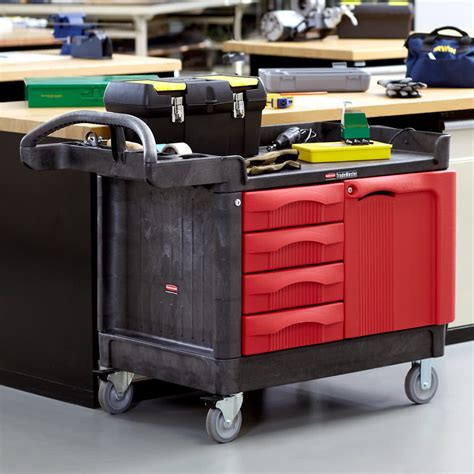rubbermaid trademaster cart with cabinet rubbermaid fg453388bla trademaster 49 quot x 26 3 16 quot black