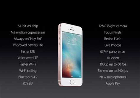 iphone 4 spec iphone se price size and more tech specs for apple s new