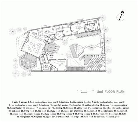 hanok house floor plan traditional korean house plans