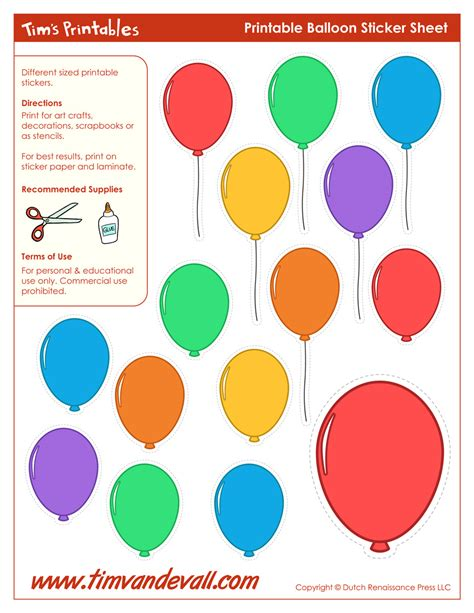 print templates free printable balloon template birthday printables
