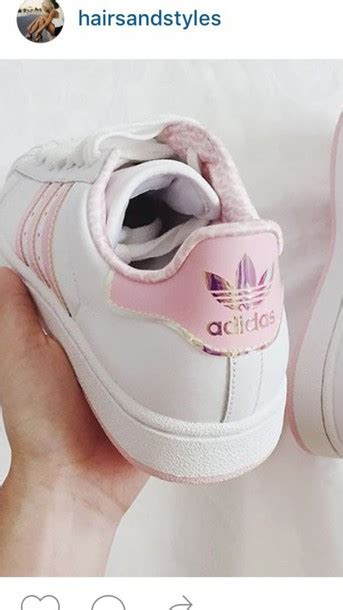 shoes adidas shoes adidas adidas superstars pink adidas holographic white pink gorgeous