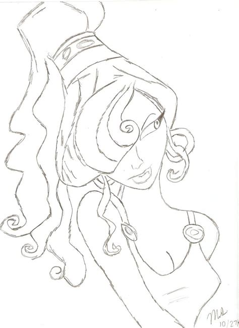 Meg From Hercules By Warriorprincess17 On Deviantart Megara Coloring Pages