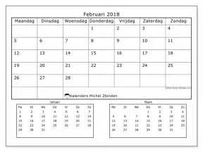 Kalender Februari 2018 Kalender Om Af Te Drukken Februari 2018 Octavius Nederland