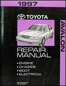 1994 1997 toyota avalon camry v6 automatic transmission overhaul manual