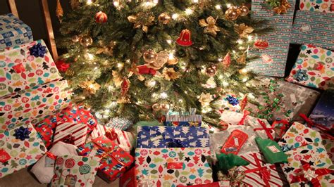 christmas presents under tree timelapse stock video
