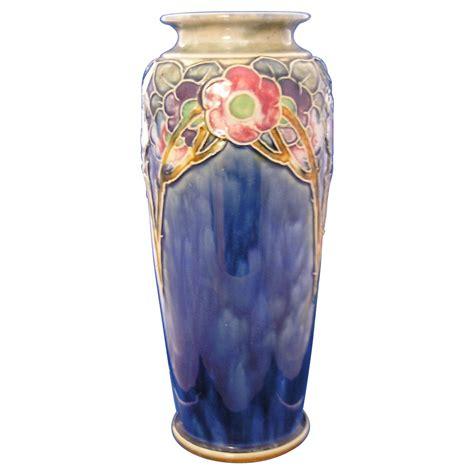 Royal Doulton Glass Vase Royal Doulton Arts Amp Crafts Floral Motif Vase Signed By