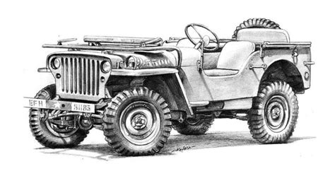 Jeep Pencil Drawing Pencil Drawings