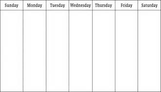 one week template printable one week calendar printable calendar