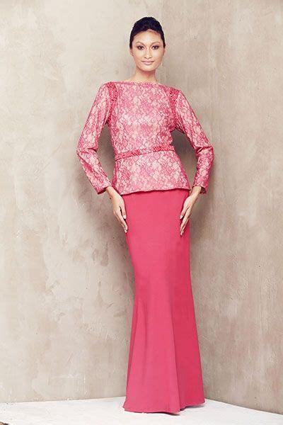 Baju Kebaya Modern Pink lace baju kurung with beaded armhole pink kebaya baju kurung baju