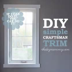 Install simple crafstman shaker window and door trim the diy mommy