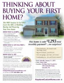 With a free first time home buyers seminar keystone custom homes