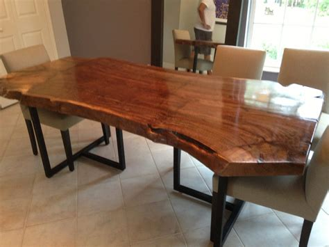Wood Slab Dining Table Live Edge Dining Table Walnut Slab Table Wood Slab Table