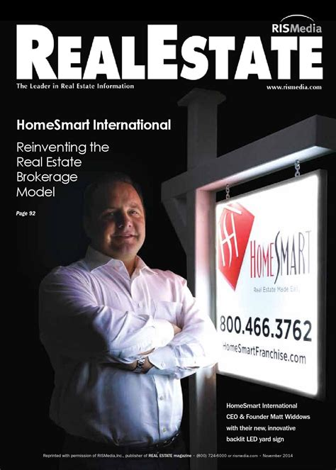 house smart real estate issuu real estate magazine feature story nov 2014 by homesmart