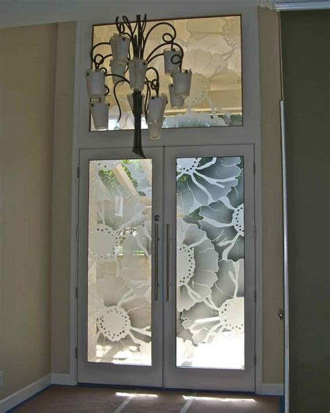 Glass Inserts For Doors by O Keefe Floral Pattern 3d Glass Door Inserts Sans Soucie