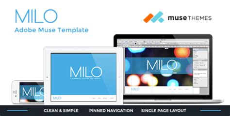 milo template 10 beautiful best adobe muse flyer templates