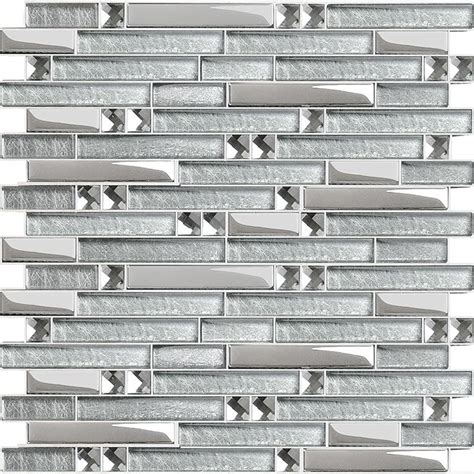 glass plated interlocking mosaic tile mirror wall