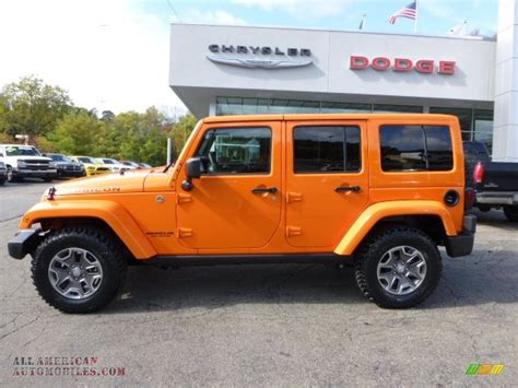 orange jeep wrangler unlimited for sale 2013 jeep wrangler unlimited rubicon 4x4 in crush orange