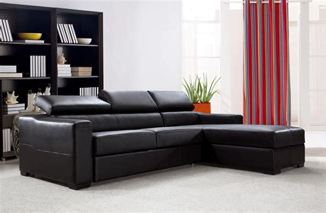 Espresso Sectional Sofa Divani Casa Flip Reversible Espresso Leather Sectional Sofa Bed With Storage Artistic Interiors