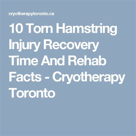 Cap Recovery Detox by 25 Best Ideas About Torn Hamstring On