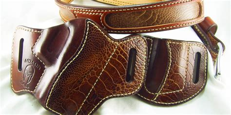 Handmade Leather Pistol Holsters - custom made leather gun holsters motorcycle review and