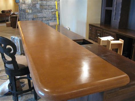 Cement Bar Top by Nw Concreteworks Inc Concrete Projects