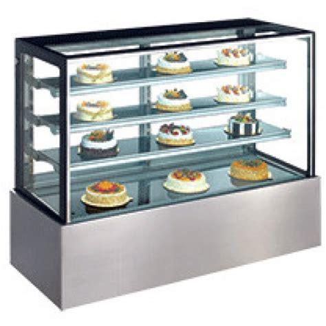 Exquisite Cake Display Fridge, Square Glass 900mm long