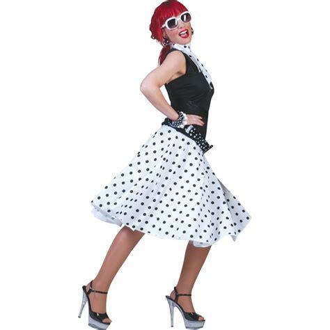 Rok Polka Pink rock n roll rok polka wit zwart jokershop verkleedwinkel