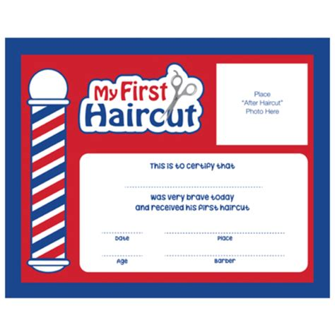 quot my first haircut quot certificates 12 pack sc mfh