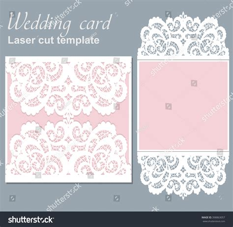Wedding Card Template With On It by Vector Die Laser Cut Wedding Card Stock Vector 398863057