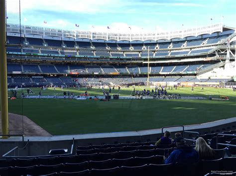 football section yankee stadium football section 107 rateyourseats com