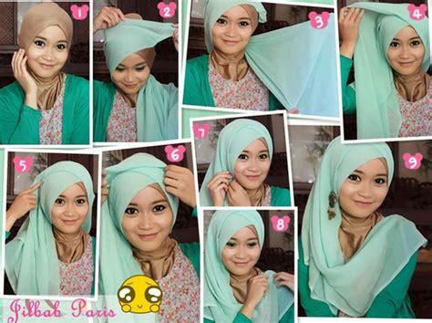 tutorial hijab paris untuk wanita berkacamata tutorial hijab paris untuk pesta wanita modis terbaru 2018