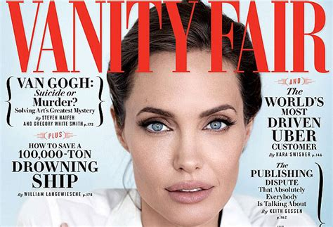 angelina jolie new tattoo vanity fair angelina jolie is open to a career in politics stylecaster