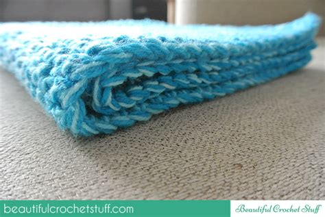 Step By Step Crochet Baby Blanket by Blue Blanket Step By Step Tutorial Beautiful Crochet Stuff