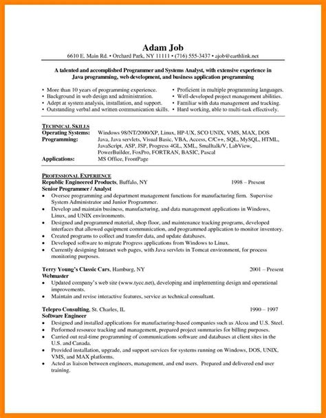 pl sql developer resume sle pl sql developer resume cover letter