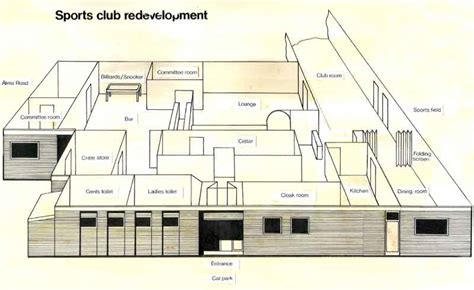 clubhouse layout sports club facilities