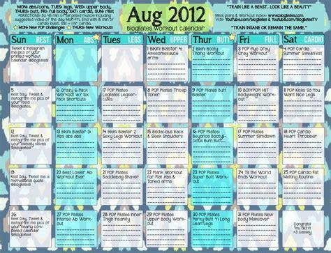 workout calendar best 25 blogilates calendar ideas on