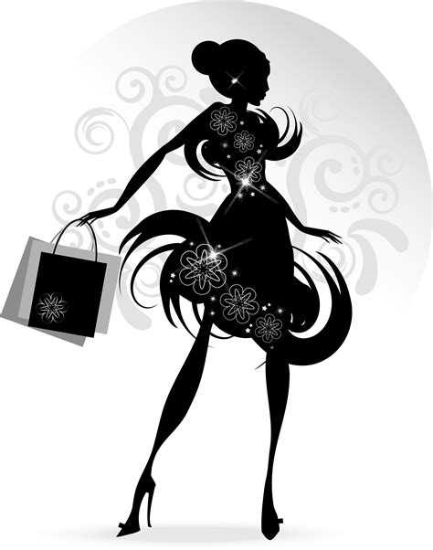 fashion illustration vector file fashion with shopping vectors 07 vector free