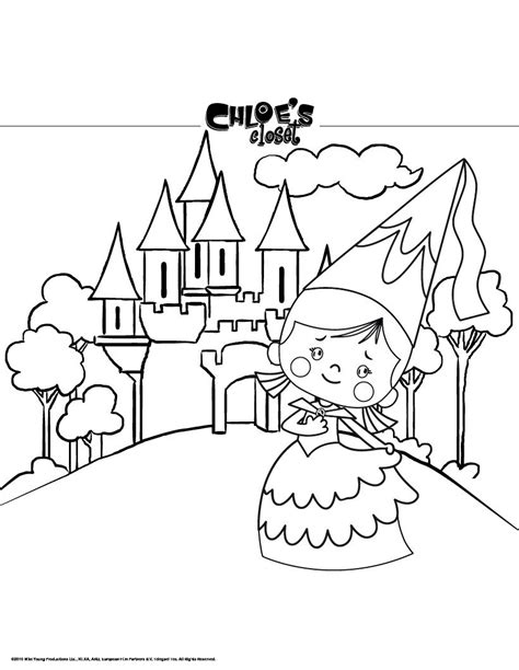 princess chloe and her castle coloring pages hellokids com