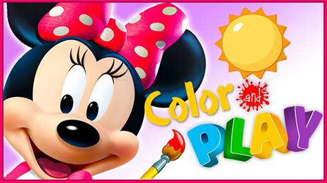 color and play minnie mouse color and play minnie s garden disney