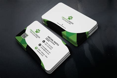 free business card design template free corporate business card template creativetacos