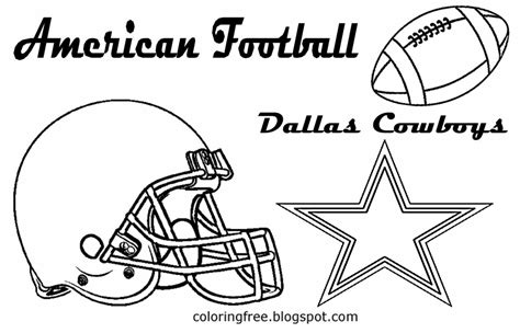 dallas cowboys football coloring coloring pages