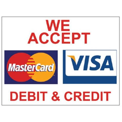 we do not accept credit debit cards sign template visa mastercard poster poster visa h by www