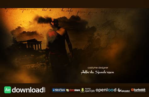 history style movie opening free videohive template free